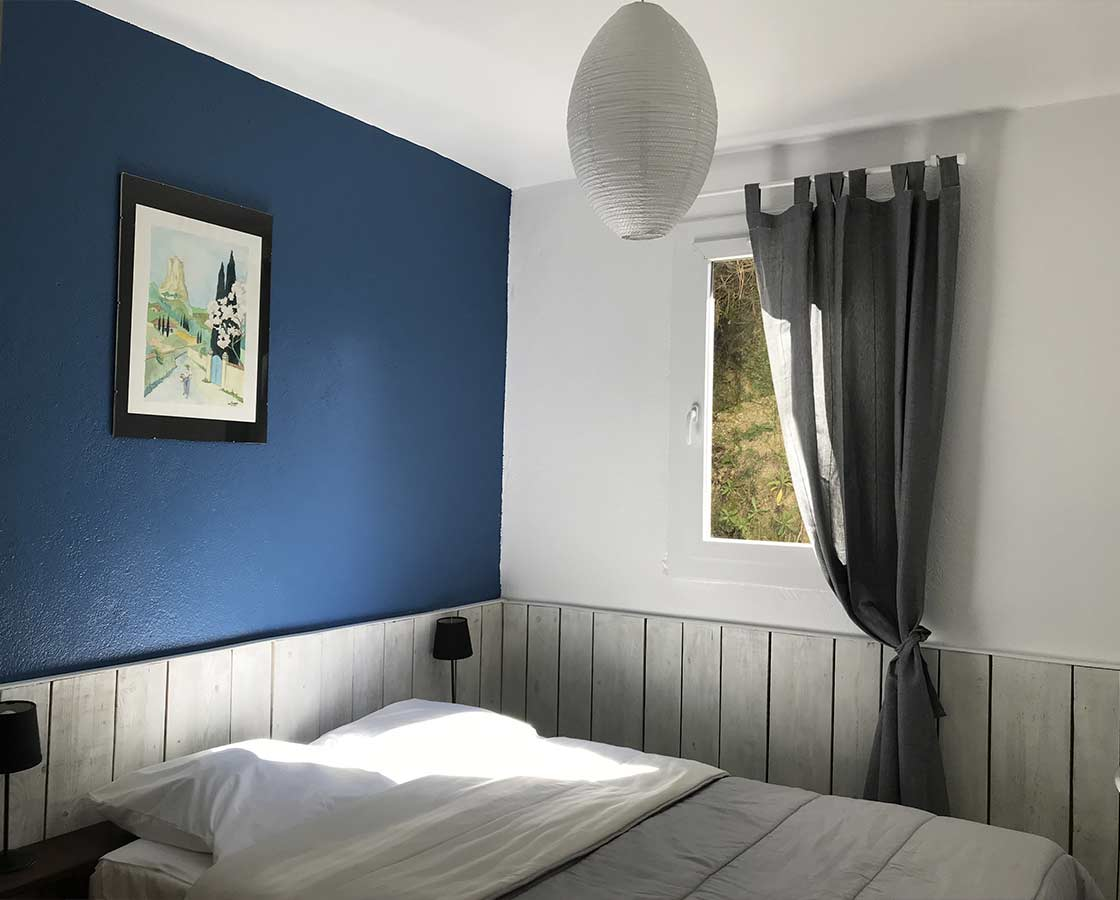 Chambre bleu village de gîtes Ravel
